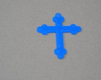 5 clear acrylic CROSS # 3 key chain blanks