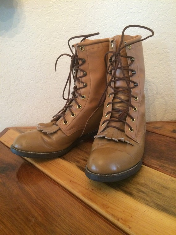womens american made brown boots size 6