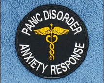 Panic Disorder Anxiety Response Service Dog Patch Size: 3 inch round  Danny & LuAnns Embroidery