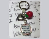 Teacher gift keyring It takes a big heart to help shape little minds with apple  heart charm   NEW DESIGN