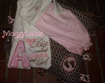 New Baby Gift Set Includes tabby blanket, 2 burp cloths and a beautiful layette