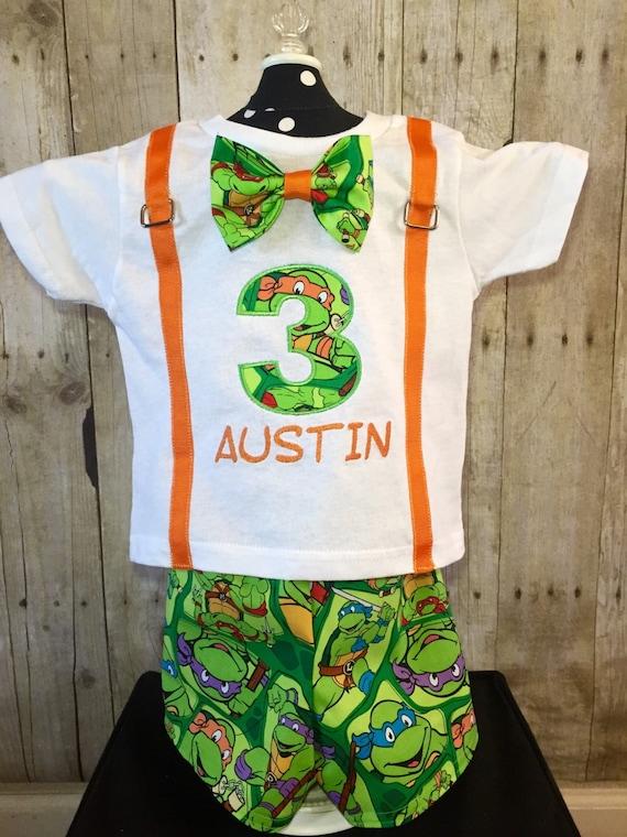 Birthday Ninja Turtle Shirt And Shorts By Irresistiblembroider