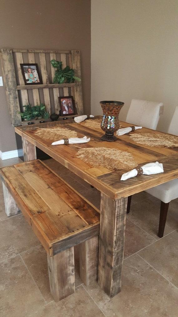 custom farm dining table available with bench farmhouse