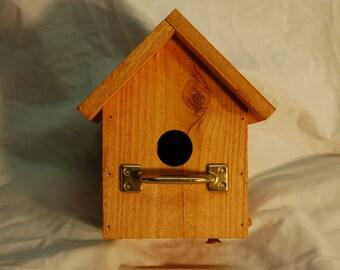 American red cedar birdhouse