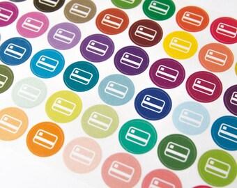 48 credit card sticker, bill due sticker, payday stickers, finance sticker, planner stickers, budget money eclp filofax happy planner kikkik