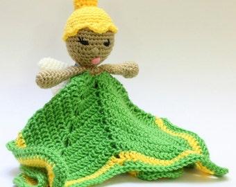 Crochet Tinkerbell Security Blanket