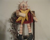 Raggedy Ann Shelf Sitter - Raggedy Ann Decoration - Raggedy Ann Doll - Raggedy Ann