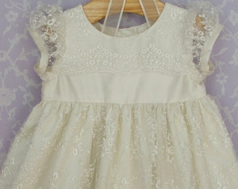 Silk Christening Gown, Constance by Okika