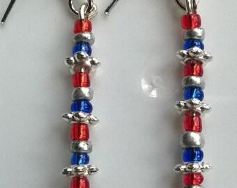 Red, White & Blue Earrings