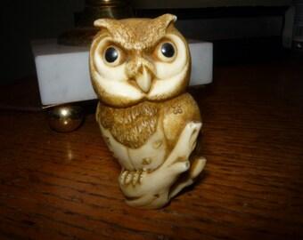 Hallmark Wide Eyed Owl on Branch