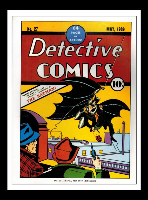 Classic Comic Book Cover Prints : Vintage print ad comic book cover detective comics