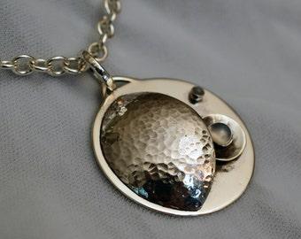 Sterling Silver Celestial Moonstone Pendant