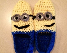 Minion Inspired Slippers for Teens and Adults