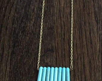 Turquoise Spike Bijou Southern Pendant