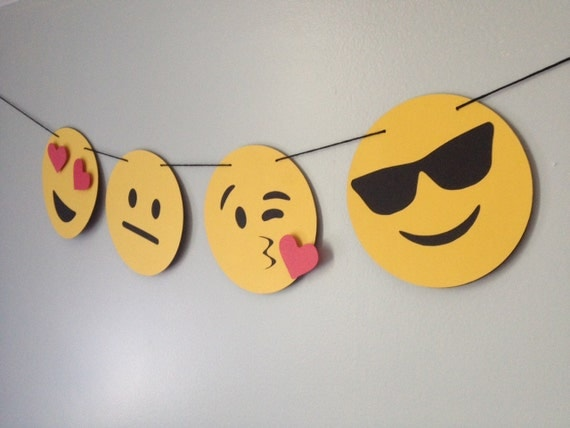 The original emoji banner emoji party emoji cake topper for Decoration emoji