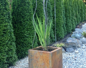 New Size -Weathering Steel Planter -Corten