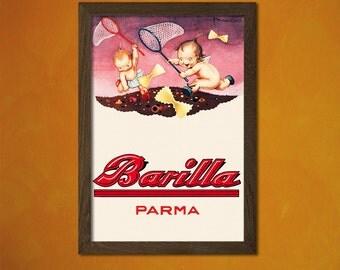 Barilla Poster -  Kitchen Poster Pasta Poster Kitchen Decor Food Poster Kitchen Pasta Prints Food Print Gift Idea   Reproduction