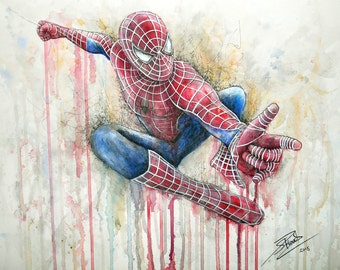 Spiderman Artwork Print