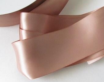 Natural Double Face Satin Ribbon / Ivory Ribbon / Ribbon by the yard /