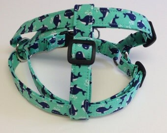 Adjustable Little Whales Step-In Dog Harness