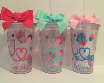 Nurse Tumbler, Nurse Cup, Nurse Gift, Nursing Student, Nurse Student, Nurse Appreciation, MA Gift, CNA Gift, RN Cup, Registered Nurse, Nurse
