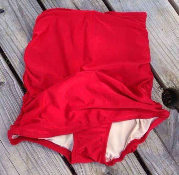 Retro Swimsuit Bottom- Vintage Swimwear- high waist bikini - Pin Up Swimsuit