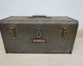 Vintage Craftsman 6500 Metal Tool Box W Inside Carry Tray