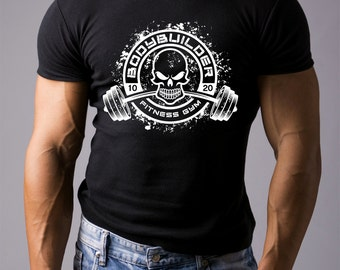 Bodybuilding Gym Mens Clothing T shirt Weightlifting Workout MMA UFC .