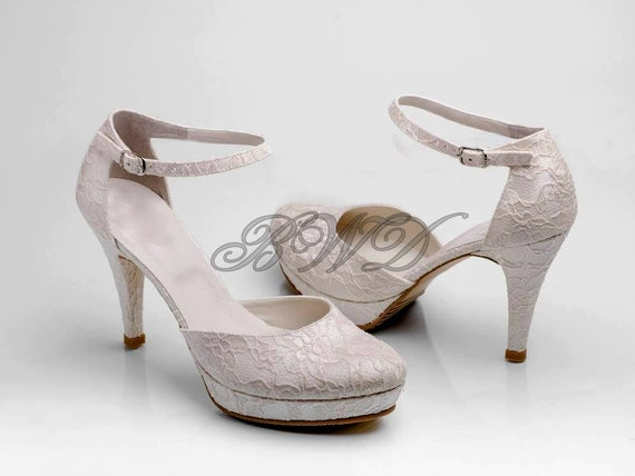 items similar to bridal shoes ivory lace shoes white lace