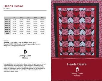 Hearts Desire Quilt Pattern