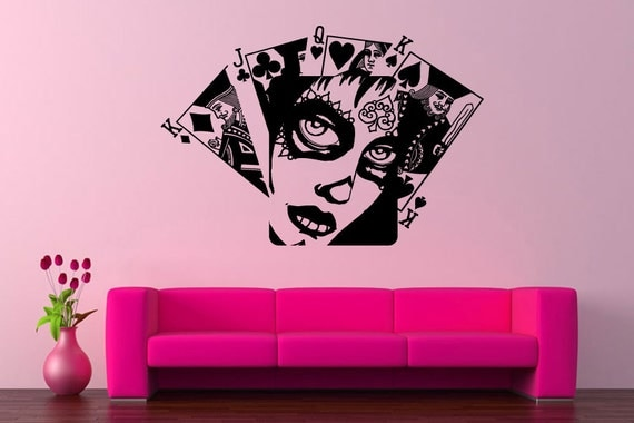 Wall vinyl sticker decals mural room design pattern art cards for Zombie room decor