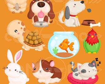 50%OFF!! Home Animal Clipart - Cute Clipart, Animal Clipart, Fun Clipart, Clipart Set, Adorable Digital Clip Art