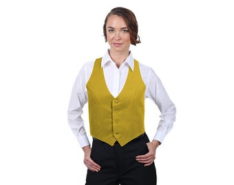 Women's Antique Gold Fashion Vest