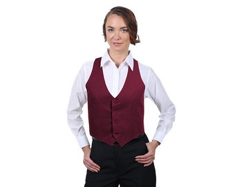 Women's Burgundy Fashion Vest