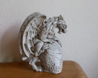 Ceramic Gargoyle on Rock (#211)