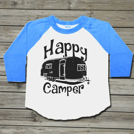 Happy camper Kids clothes Camping shirt Baby clothes Baby