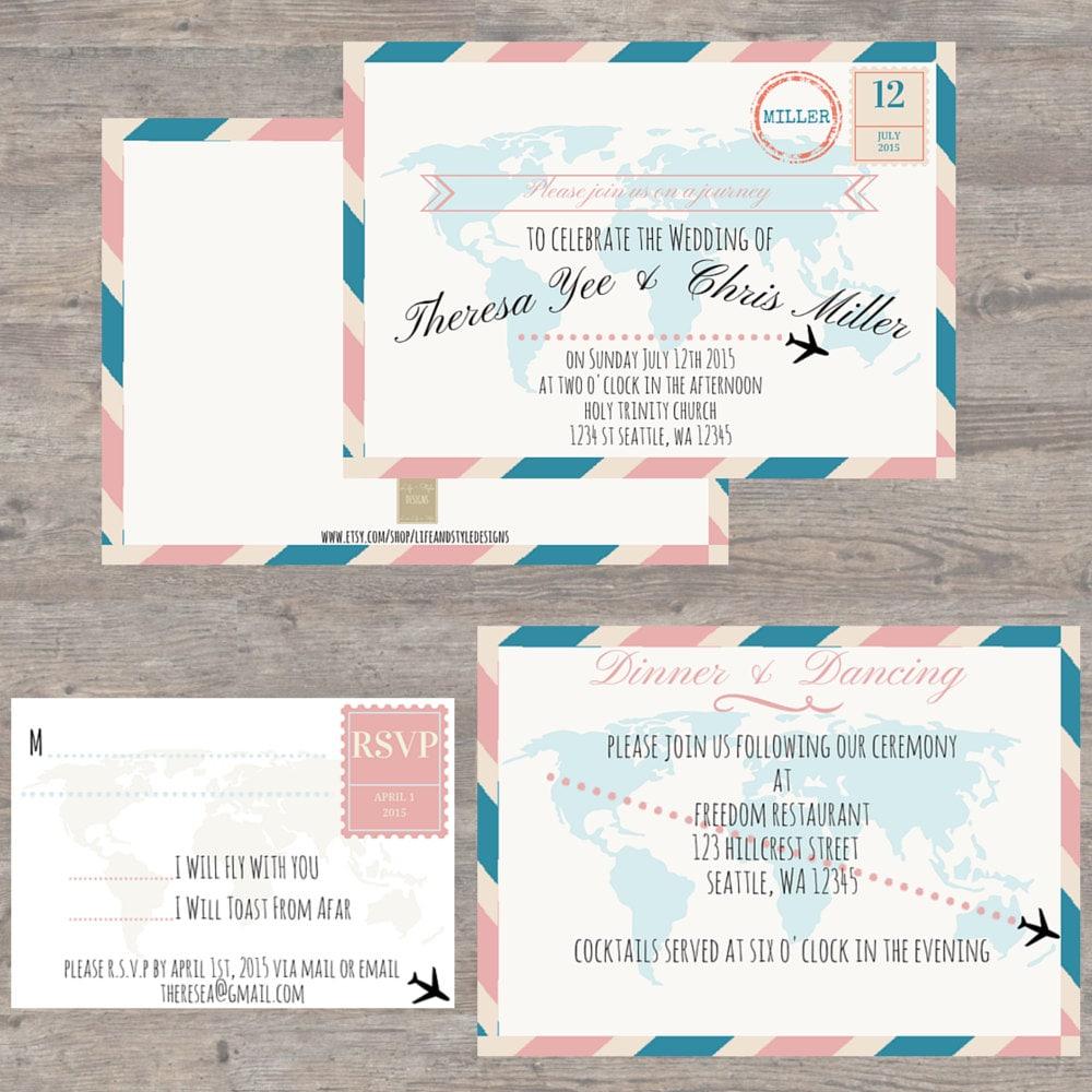 travel themed wedding cards - 28 images - diy travel themed wedding ...