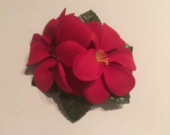 Red Double Frangipani