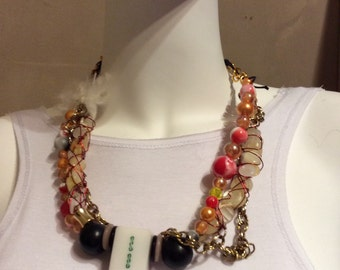 Custom made vintage neckles by carmen bury
