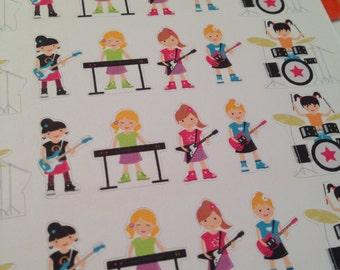 Rocker Girl stickers -  for your EC, PP, planner