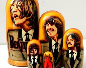 Nesting doll #502 The Beatles