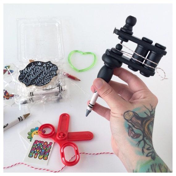matte black kids tattoo machine toy mini by