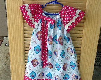Frozen Peasant Dress Size 6