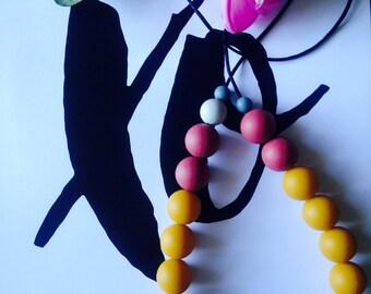 Silicone Mustard Necklace
