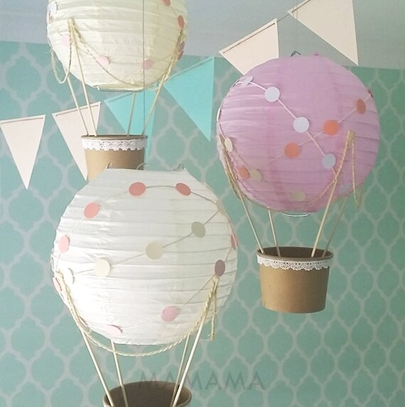 Whimsical hot air balloon decoration diy kit nursery decor for Balloon decoration making