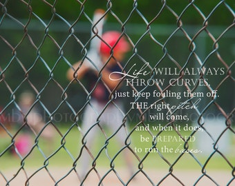 8x10 Curve Ball Baseball Print