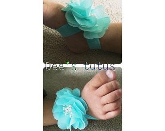 Pretty Baby flower barefoot sandals