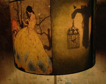 Spiritual Fairy Tale StoryTeller inspired Lamp Shade 'A TALE OF TALES'