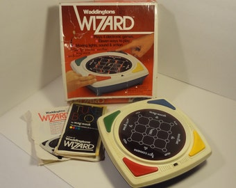 1979 Waddington's Wizard Electronic Game Original Box Instructions Retro Simon