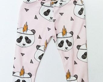 Baby Pink Panda Leggings